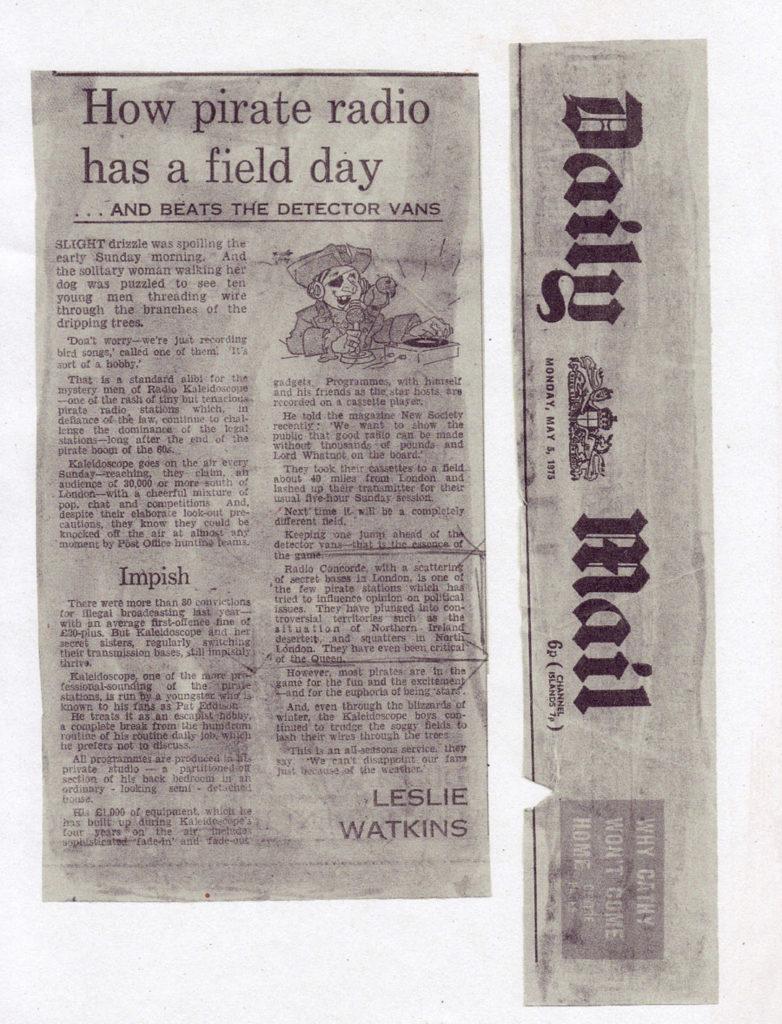 Pirate Radio, Daily Mail, U.K., 1975