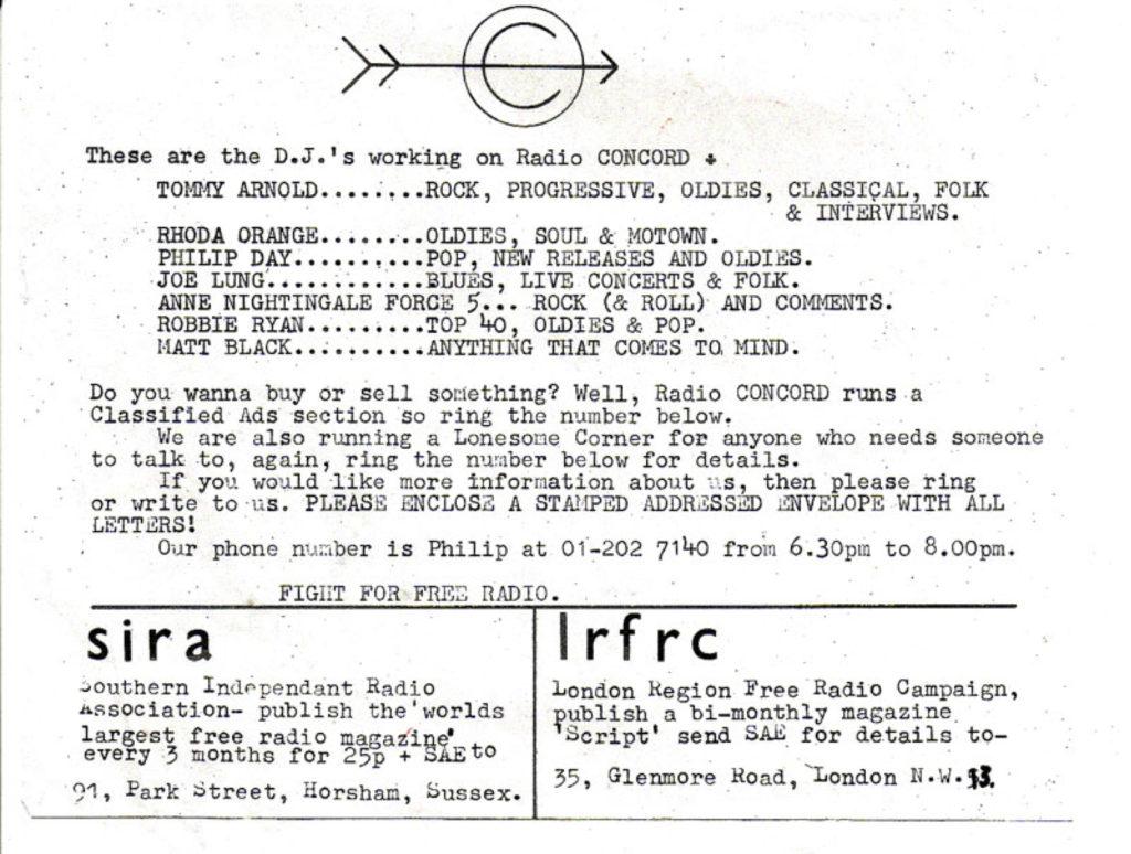 DJs for Radio Concord