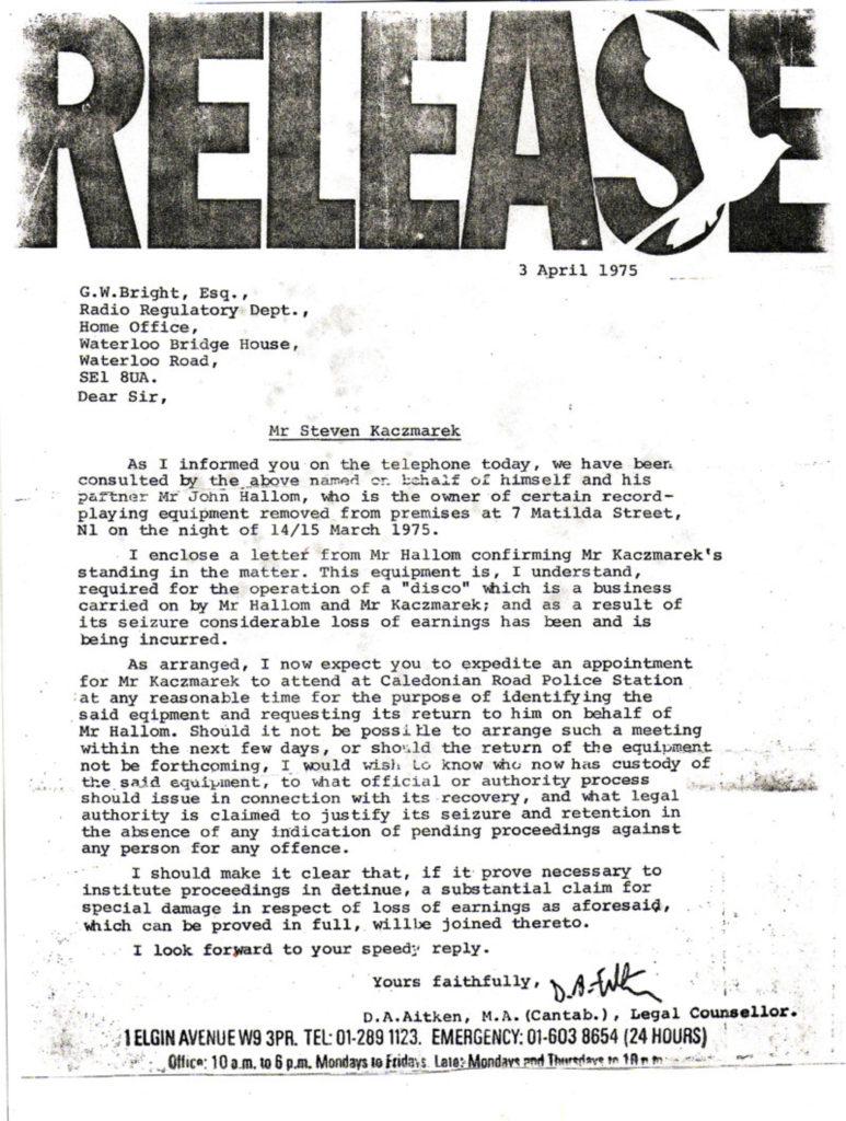 Radio Registration Department - April 3, 1975
