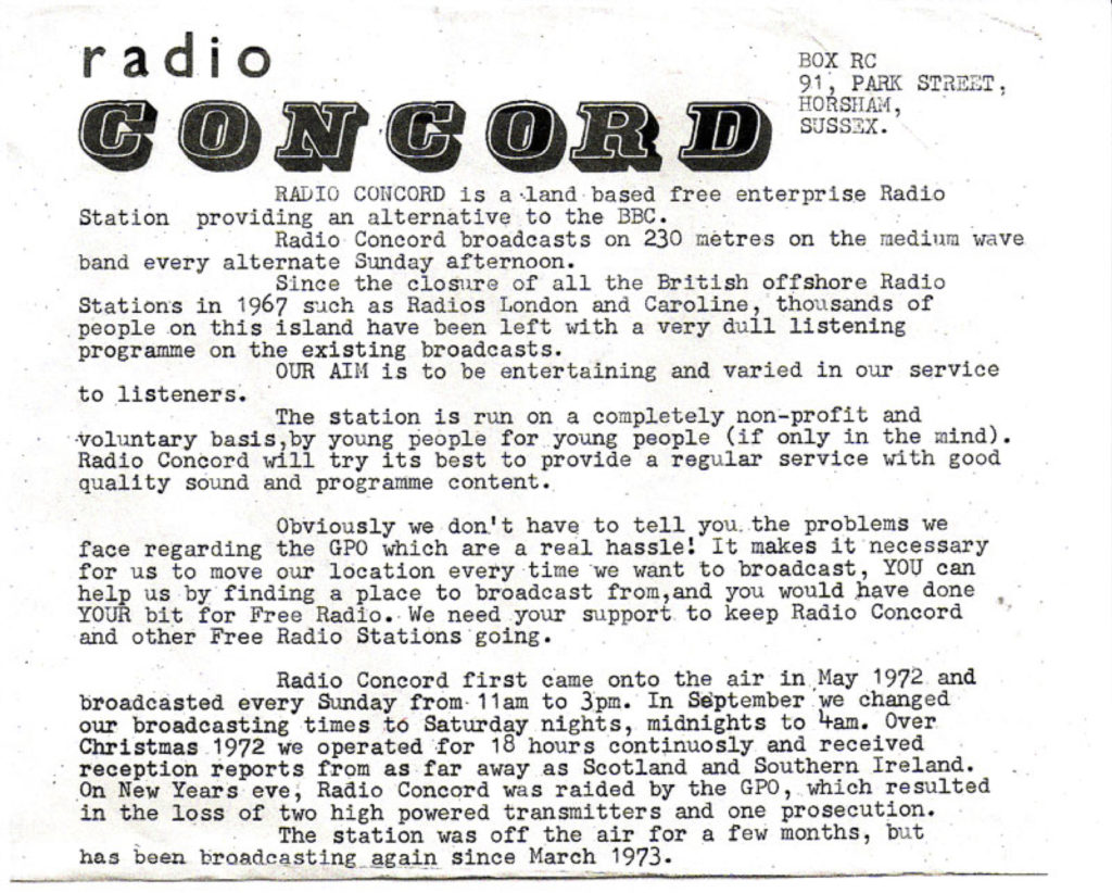 What is Radio Concord?