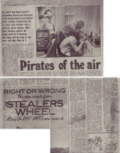 Melody Maker article March 15, 1975 p. 18, p. 22. - Pirate Radio England